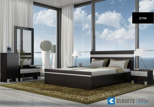 חדר שינה אודם קומפלט (מיטה יהודית)
